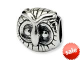 Reflections™ Sterling Silver Owl Head Bead / Charm style: QRS377