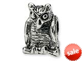 Reflections™ Sterling Silver Owl Bead / Charm style: QRS378