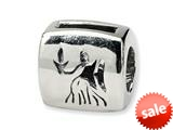Reflections™ Sterling Silver Virgo Zodiac Antiqued Pandora Compatible Bead / Charm style: QRS461