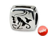 Reflections™ Sterling Silver Capricorn Zodiac Antiqued Bead / Charm style: QRS465