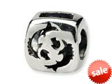 Reflections™ Sterling Silver Pisces Zodiac Antiqued Bead / Charm