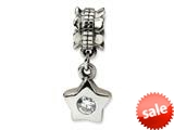 Reflections™ Sterling Silver CZ Star Dangle Bead / Charm style: QRS543