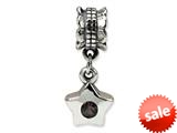 Reflections™ Sterling Silver Smokey CZ Star Dangle Bead / Charm style: QRS545