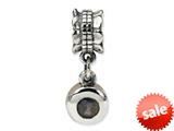 Reflections™ Sterling Silver Smokey CZ Round Dangle Bead / Charm style: QRS553