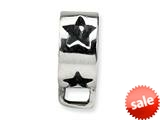 Reflections™ Sterling Silver Star w/Loop for Click-on / Lobster Clasp Carrier Charm style: QRS556