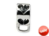 Reflections™ Sterling Silver Heart w/Loop for Click-on / Lobster Clasp Carrier Charm style: QRS557