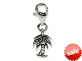 Reflections™ Sterling Silver Palm Tree Click-on / Lobster Clasp for Bead / Charm Bracelets style: QRS564