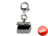 Reflections™ Sterling Silver Tresure Chest Click-on / Lobster Clasp for Bead / Charm Bracelets style: QRS567
