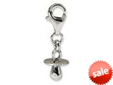 Reflections™ Sterling Silver Baby Pacifier Click-on / Lobster Clasp for Bead / Charm Bracelets style: QRS578