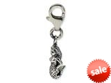 Reflections™ Sterling Silver Mermaid Click-on / Lobster Clasp for Pandora Compatible Bead / Charm Bracelets style: QRS580