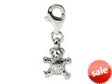 Reflections™ Sterling Silver Teddy Bear Click-on / Lobster Clasp for Pandora Compatible Bead / Charm Bracelets style: QRS581