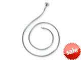 Reflections Sterling Silver SimStars Clasp Pandora Compatible Bead Necklace 17.00 inches style: QRS985-17