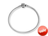 Reflections Sterling Silver SimStars Clasp Bead Bracelet 6.75 inches