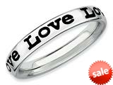 Stackable Expressions Sterling Silver Polished Enameled Love Stackable Ring style: QSK102
