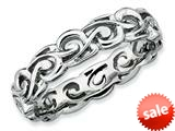 Stackable Expressions Sterling Silver Polished Stackable Ring style: QSK130