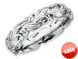 Stackable Expressions Sterling Silver Polished Stackable Ring style: QSK131
