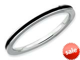 Stackable Expressions Sterling Silver Black Enameled 1.5mm Stackable Ring style: QSK140