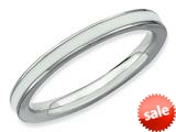 Stackable Expressions Sterling Silver White Enameled 2.25mm Stackable Ring style: QSK149
