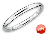 Stackable Expressions Sterling Silver Rhodium Polished Stackable Ring style: QSK231