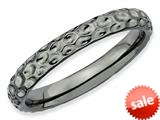 Stackable Expressions Sterling Silver Black-plated Stackable Ring style: QSK277