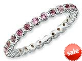 Stackable Expressions Sterling Silver Pink Tourmaline Stackable Ring style: QSK359