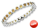 Stackable Expressions Sterling Silver Citrine Stackable Ring style: QSK372