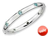 Stackable Expressions Sterling Silver Blue Topaz Stackable Ring style: QSK385