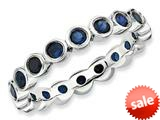 Stackable Expressions Sterling Silver Created Sapphire Stackable Ring style: QSK394