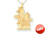 The Kids® Big Girl and Little Girl Engraveable Charm / Pendant style: XK291