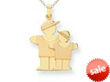 The Kids® Big Boy and Little Boy Engraveable Charm / Pendant style: XK294