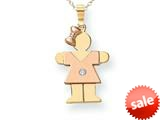 The Kids® Diamond kid Charm / Pendant style: XK497AA