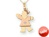 The Kids® kid Charm / Pendant 18 inch Chain Included style: XK498AA
