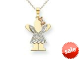The Kids® 0.15cttw Diamond kid Charm / Pendant style: XK532AA