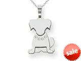The Kids® Dog with Diamond Collar Charm / Pendant style: XK870AA
