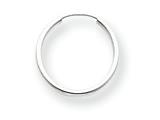 14k White Gold Madi K Endless Hoop Children Earrings style: SE192