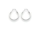 14k White Gold Madi K Hoop Children Earrings style: SE207