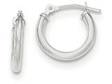 14k White Gold Polished Hoop Earrings style: SE2493
