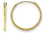 14k Madi K Sm. Endless Bright Cut Hoop Children Earrings style: SE413