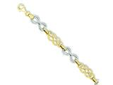 14k Two-tone Infinity Hollow Bracelet style: SF1569