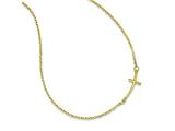 14k Small Sideways Curved Cross Necklace style: SF2080