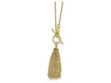 18 Inch 14k Cable Chain Tassel Toggle Necklace style: SF229718