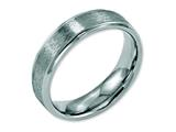 Chisel Stainless Steel Ridged Edge 6mm Satin And Polished Weeding Band style: SR106