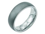 Chisel Stainless Steel Stone Finish 7mm Weeding Band style: SR107
