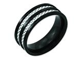 Chisel Stainless Steel 8mm Black Ip-plated Grey Carbon Fiber Polished Weeding Band style: SR124
