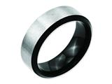 Chisel Stainless Steel Beveled Edge Black Ip-plated 8mm Brushed Weeding Band style: SR126