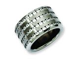 Chisel Stainless Steel Multirow 13mm CZ Ring style: SR142