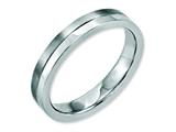 Chisel Stainless Steel 4mm Brushed and Polished Weeding Band style: SR144