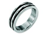 Chisel Stainless Steel 6mm Grooved And Black Rubber Weeding Band style: SR149