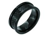 Chisel Stainless Steel Polished 9mm Black Ip-plated W/carbon Fiber Weeding Band style: SR162
