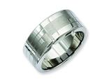 Chisel Stainless Steel Textured Ring style: SR170